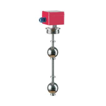 Vertikální plovákový magnetický spínač hladiny