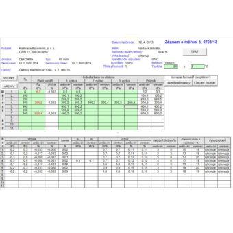 automatický odečet referenčního tlakoměru XP2IKAL