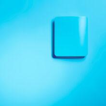Ukázka dekorativního krytu na převodníku HMW90 - malba modrá