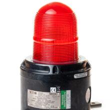 XB15 nevýbušný zábleskový xenonový maják MEDC, Exd, červené stínítko, barva těla černá, montážní lišta