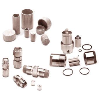 Sintrované porézní kovové filtry a regulátory průtoku Mott Corporarion