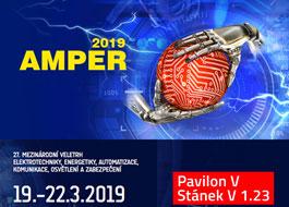 Vystavujeme na AMPER 2019