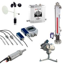 Přístroje pro měřeníteploty, tlaku,průtoku, koncentace a slunečního svitu