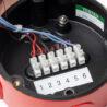 Svorky sirény DB12, Eaton MEDC, IP66, IP67, 110 dB, vstupy M20, červena