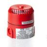 DB5 jiskrově bezpečná siréna EATON RTK (MEDC), Exia, 24Vdc, 103dB, červená, do zóny 0, 1, 2, certifikační štítek, zleva, DB5B024NR, PX805002