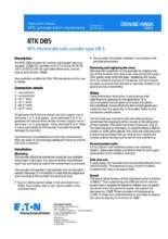 Návod k použití sirény DB5 (RTK) - Jiskrově bezpečná siréna DB5