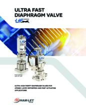 Ultra Fast Diaphragm Valve UF catalog - Ultračisté membránové ventily HAM-LET
