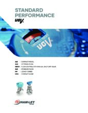 Standard Performance UCV catalog - Ultračisté membránové ventily HAM-LET