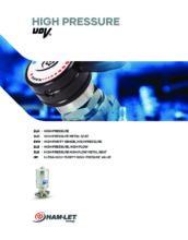 High Pressure UCV catalog - Ultračisté membránové ventily HAM-LET