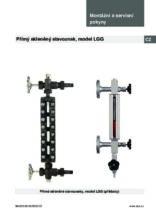 Manuál - Přímý skleněný stavoznak LGG - Přímý skleněný stavoznak LGG