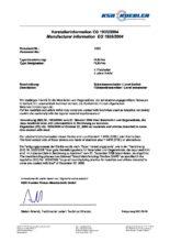Schválení zařízení do potravinářství dle EU 1935/2004 - Odporový snímač hladiny FLR-F (do potravinářství)