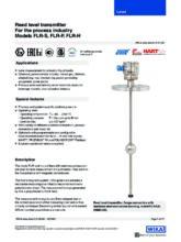 Katalogový list - Odporový snímač hladiny FLR - Odporový snímač hladiny FLR