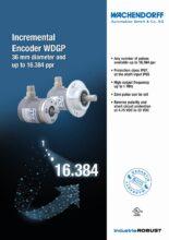 Inkrementální enkodéry WGDP - Inkrementální snímače WDG, WDGI a WDGP sdutou hřídelí