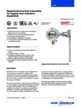 Katalogový list - Kontinuální magnetostrikční snímač BLM - Obtokový magnetický stavoznak BNA