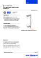 Katalogový list - Osvětlovací jednotka LGI - Přímý skleněný stavoznak LGG