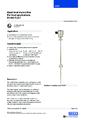 Katalogový list - Odporový snímač hladiny FLR-F - Odporový snímač hladiny FLR-F (do potravinářství)