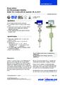 Katalogový list - Vertikální hladinový spínač FLS - Vertikální hladinový spínač