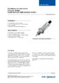 Katalogový list - Optický hladinový spínač, model OLS-C20 - Optický hladinový spínač