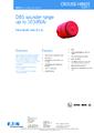 Katalogový list sirény DB5 - Jiskrově bezpečná siréna DB5