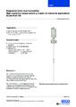 Katalogový list pro magnetostrikční snímač hladiny FLM-CM - Magnetostrikční snímač hladiny FLM-C (kompaktní OEM verze)