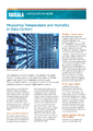 Aplikační poznámka - Měření teploty a vlhkosti v datových centrech - Nástěnné převodníky teploty a vlhkosti řady HMW90